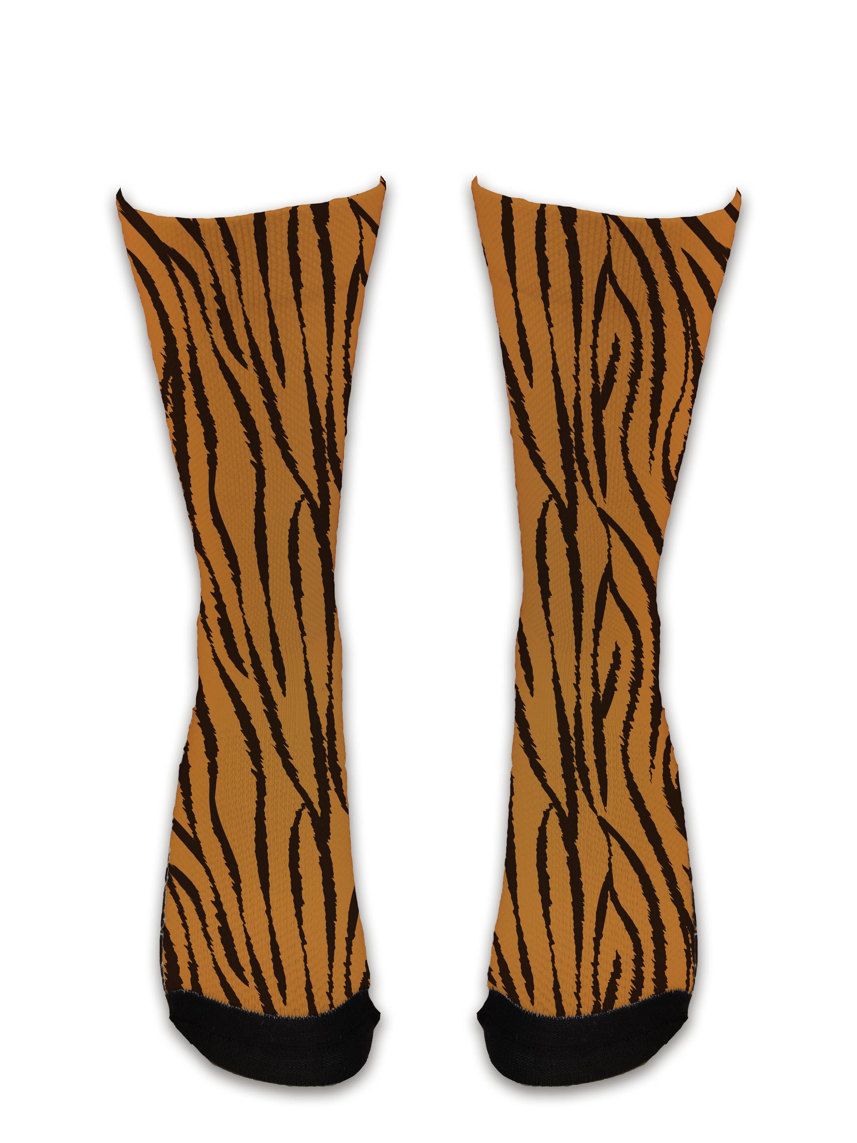 Meia Sublimada - Animais Tigre