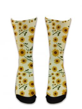 Meia Sublimada - Flores Girassol